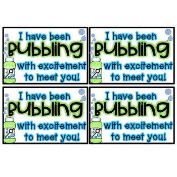 Bubbling with Excitement! -- An Open House Gift (Bubbles)