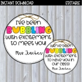 Bubbling with Excitement! | Back to School Tag for Bubbles