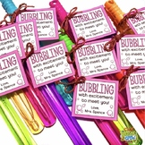 Bubbling with Excitement Bubble Gift Tag | Editable