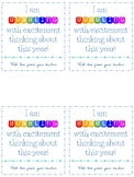 Bubbling with Excitement Freebie Tag Back To School Gift