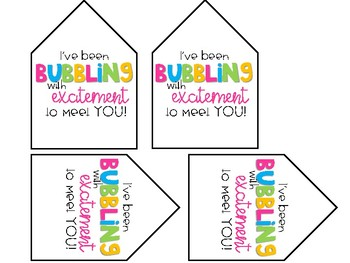 Bubbling with Excitement Gift Tags