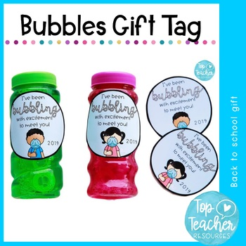 Bubbling with Excitement - back to school gift tag