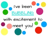 Bubbling with Excitment Welcome Card