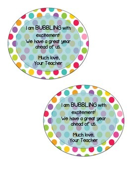 Bubbling with excitement for back to school!!