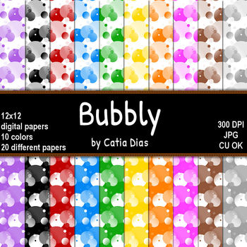 Bubbly - 20 Digital Papers