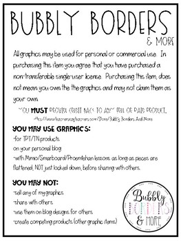 Bubbly Borders & More Terms