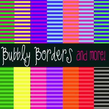 Bubbly Bright Stripes Digital Backgrounds