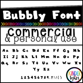 Bubbly Font by Kinder Tykes for Personal & Commercial Use