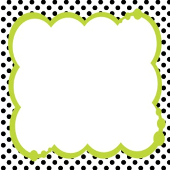 Bubbly Frames on Polka Dots BLACK & WHITE COLLECTION