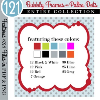 Bubbly Frames on Polka Dots ENTIRE COLLECTION