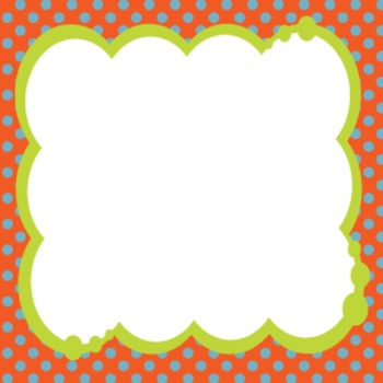 Bubbly Frames on Polka Dots ORANGE COLLECTION