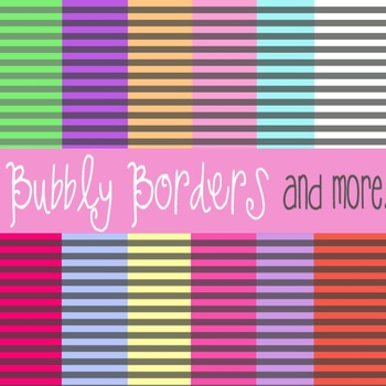 Bubbly Gray Striped With Color Accents Digital Backgrounds