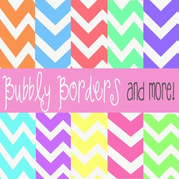 Bubbly Pastel Chevron Digital Scrapbook Backgrounds- Commercial Use