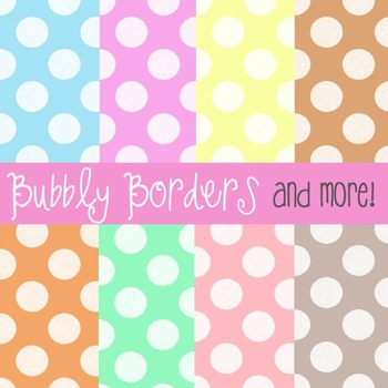 Bubbly Pastel Muted Polka Dots Digital Scrapbook Background Commercial Use
