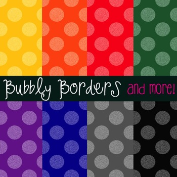 Bubbly Primary Muted Polka Dots Digital Scrapbook Background Commercial Use