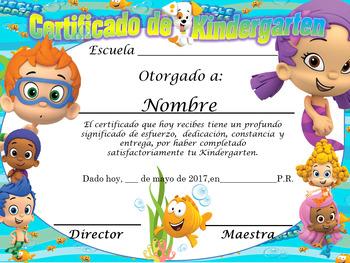 Buble Guppies Achievement Award  Complete Eduitable Spanish & English version