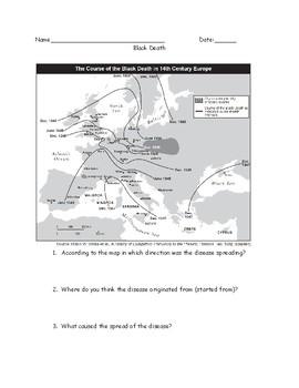 Bubonic Plage Black Death Middle Ages Worksheet