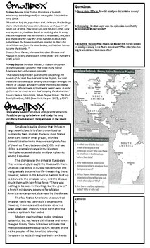 Bubonic Plague vs. Smallpox video and source analysis worksheet