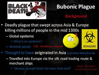 Bubonic Plauge PowerPoint Lesson (with writing activity)