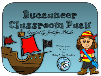 Pirate - Buccaneer Classroom Decor Pack