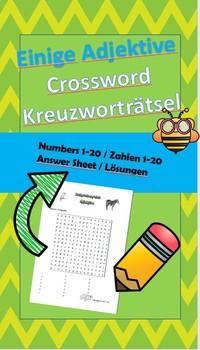 Buchstabensalat - Adjektive / Word search -