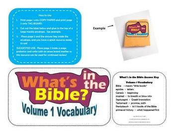 Buck Denver What's In The Bible Vol. 1 Vocabulary