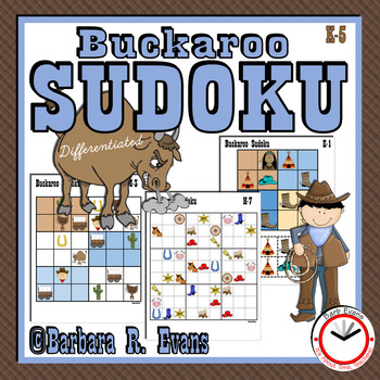 SUDOKU Critical Thinking Wild West Theme HOTS GATE