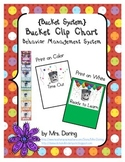 Bucket Clip Chart Behavior Management ENGLISH