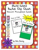 Bucket Clip Chart Behavior Management SPANISH