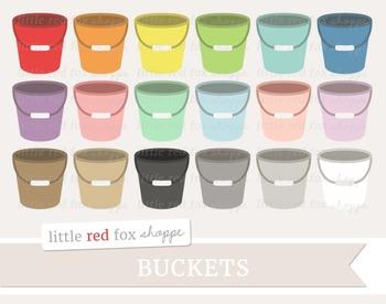 Bucket Clipart; Cleaning Supplies, Pail, Mop