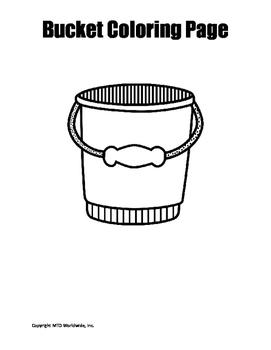 Bucket Coloring Page