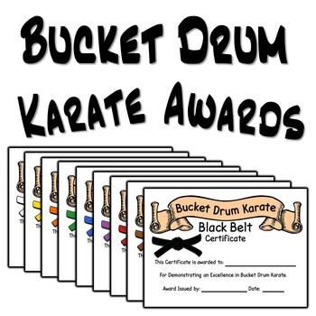 Bucket Drum Karate Award Certificates
