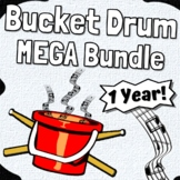 Bucket Drumming 1 Year ~MEGA BUNDLE ~ for Distance Learning