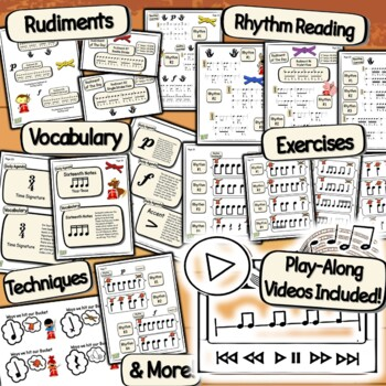 Bucket Drumming Karate - Rhythm Notation Studies For Middle School Learners