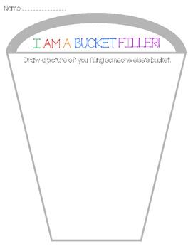 Bucket FIller - I am a bucket filler