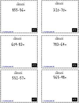 Multi-Digit Subtraction Game