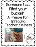 Bucket Filler- A Teacher Kindness Freebie