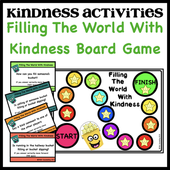 Bucket Filler Activities: Filling My Bucket With Kindness Board Game