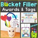 Bucket Filler Awards, Reward Tags, & Treat Tags Editable