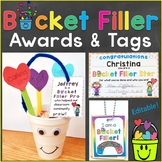 Bucket Filler Awards, Reward Tags, & Treat Tags Editable