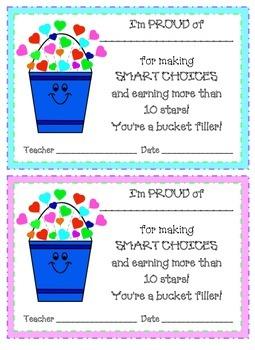 Bucket Filler Badge Rewards
