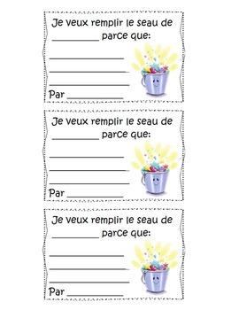 Bucket Filler Basics (French) - Remplir un seau