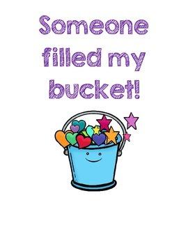 Bucket Filler -- Bucket Covers & Student Slips