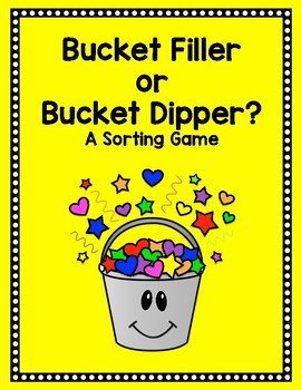 NEW!!! Bucket Filler/Bucket Dipper Behavior Sort