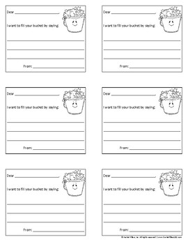 Bucket Filler - Bucketfilling Notes #1 - Black & White