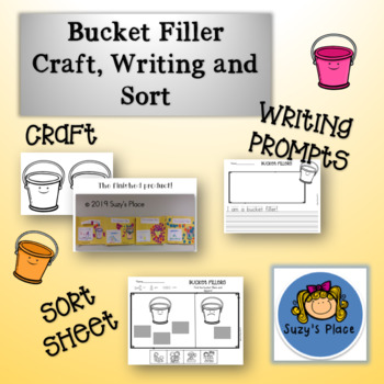 Bucket Filler  Bulletin Board Display, Craft, and Writing Prompts!