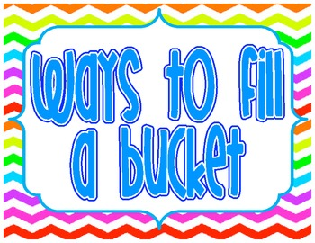 Bucket Filler Bulletin Board Pack in Bright Chevron
