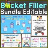 Bucket Filler Bundle (Activities, Bulletin Board, Class Pledge, Awards, Tags)