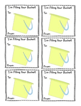 Bucket Filler Cards