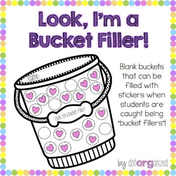 Bucket Filler Sticker Chart Buckets